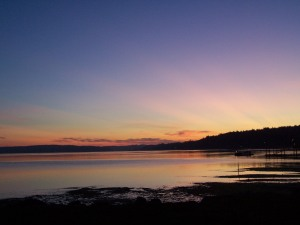 Dawn on the beach, Port Orchard Washington